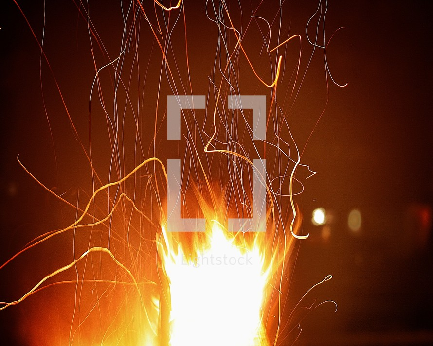 sparks from a fire