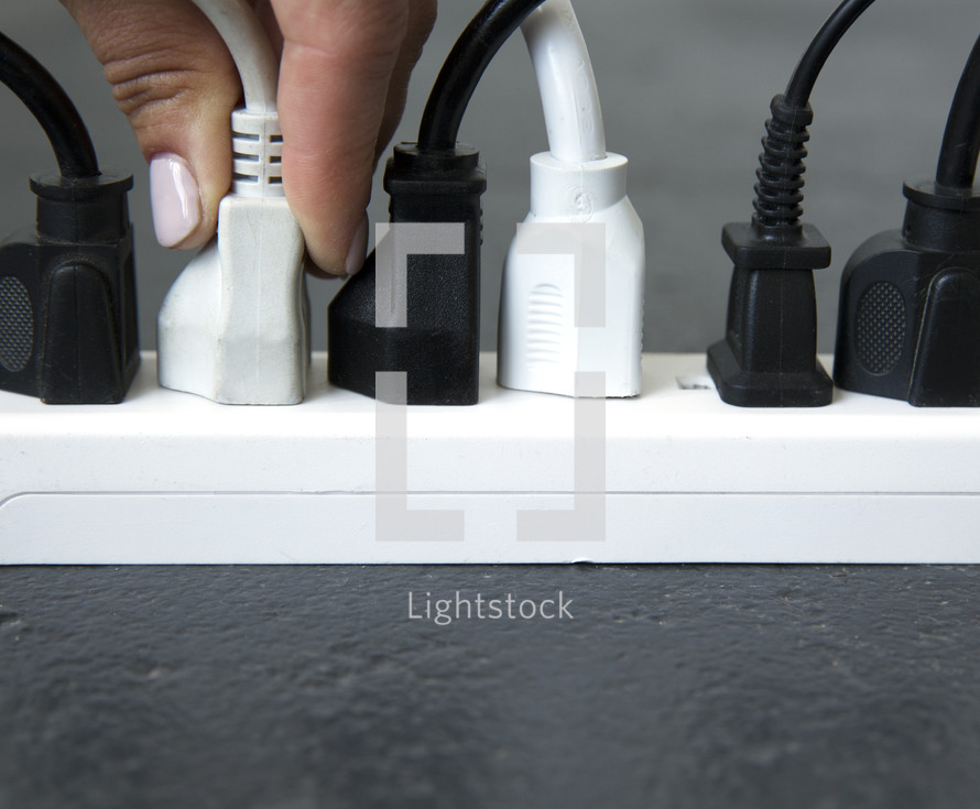 plugs into a power strip