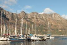 yachts in a harbor marina