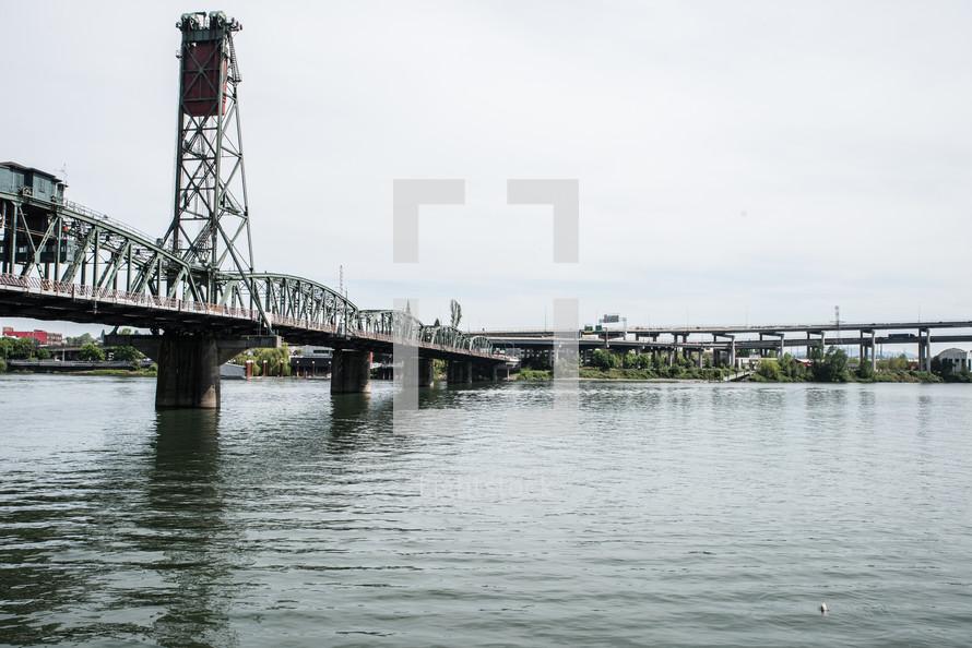 draw bridge over a river