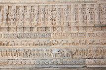 carvings in stone on a temple in India
