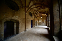 vaulted hallway in Oxford