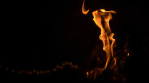flames from a fire