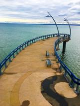 pier with unique architecture