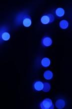 blue bokeh lights