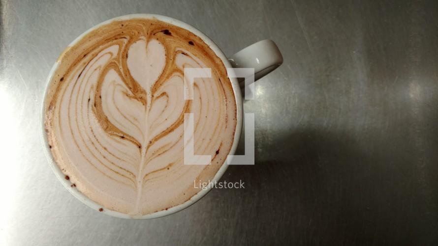 Overhead Coffee Latte Art