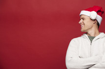 man in a santa hat