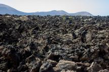 a rocky ground surface