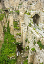 ancient ruins at the Pool of Bethesda where Jesus healed a man who was sick for 38 years