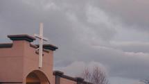 a church under a cloudy sky