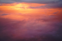above the storm clouds