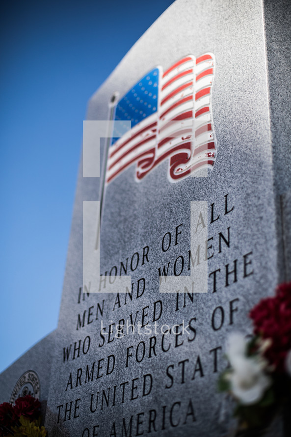 In Honor of the fallen men and women who served in the armed forces of the United States of America memorial