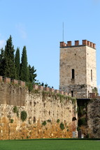 Fortress wall and strong tower