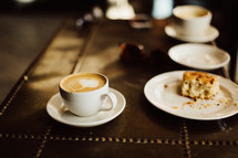cappuccino and coffee cake