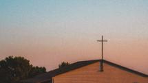 cross on a church roof
