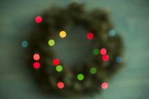 bokeh Christmas wreath