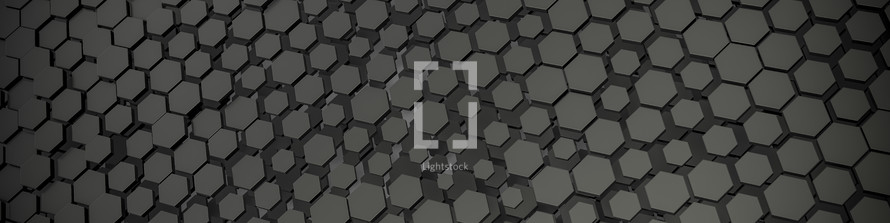 gray hexagon background