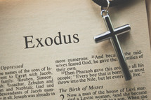 Exodus and a cross necklace