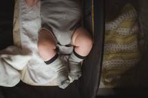 legs of a newborn baby