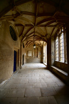 vaulted ceiling in a hallway in Oxford