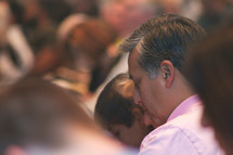prayer at a worship service