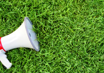 megaphone in the grass