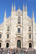 The Duomo or Milan Cathedral.