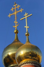 Russian Orthodox Church spires