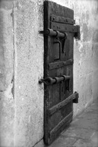 latched locked prison door