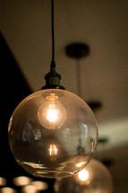 hanging globe lights