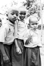 curious school children