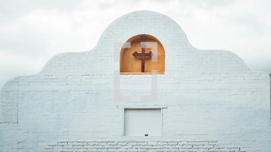 church in an arch