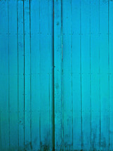 painted blue wood boards