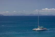catamaran on ocean water
