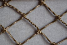 rope on linen texture background