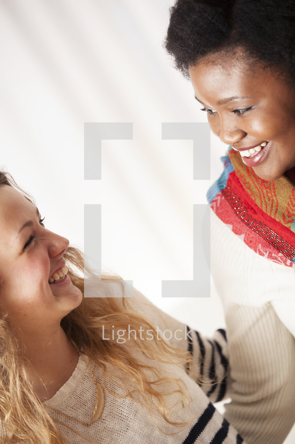 friends smiling together.