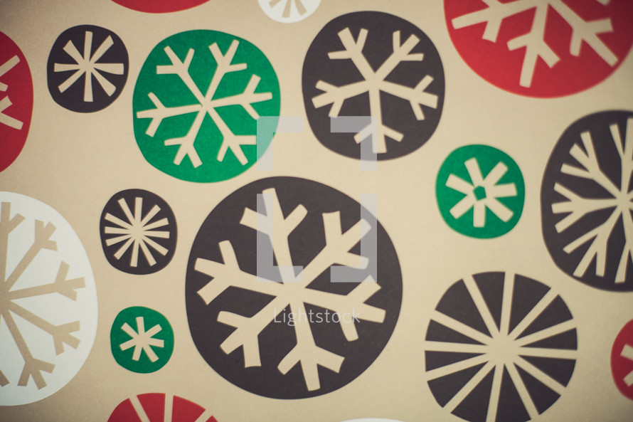 snowflake Christmas wrapping paper background