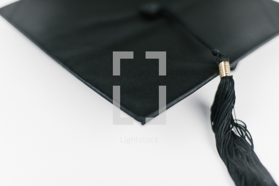 graduation cap on a white background