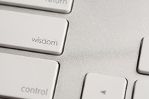 """Wisdom"" key on a keyboard."