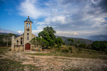 Stone Church Building in the mountains of Northern Haiti.