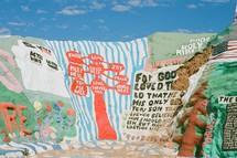 religious Christian paintings on rocks