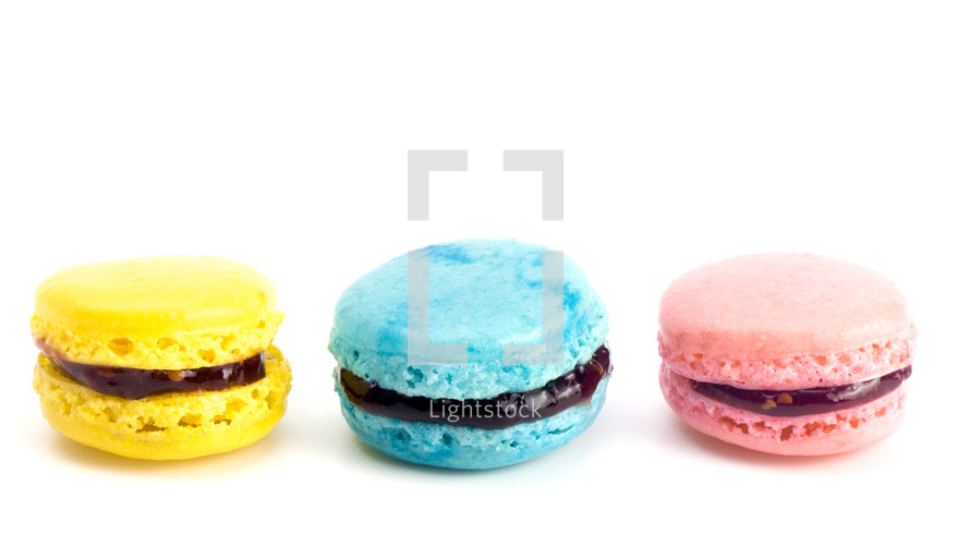 colorful French Macaron Sandwich Cookies