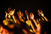 raised hands of worship