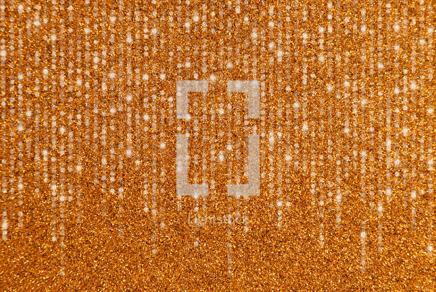 gold Glitter Background with streamers