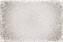 Simple Silver Glitter Background with stars