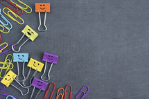colorful paperclips and clips