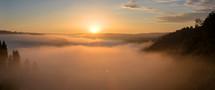 mountains in Belgium at sunrise