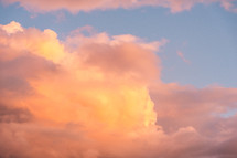 pink and yellow clouds