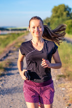 jogging with headphones