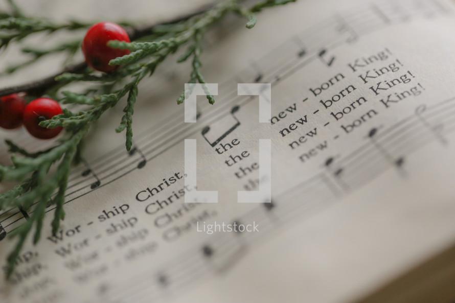 the newborn king, Christmas sheet music